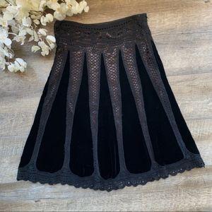 Art Deco Crochet Lace Velvet Flapper Skirt
